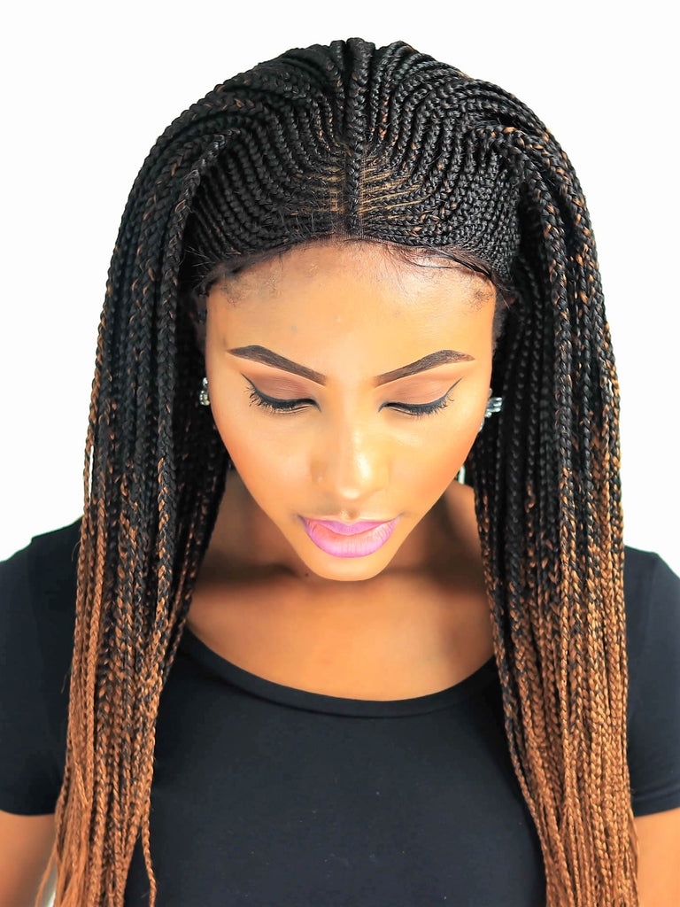 Cornrow Fulani Braid Wig Ombre Color 2 30 22 Inches