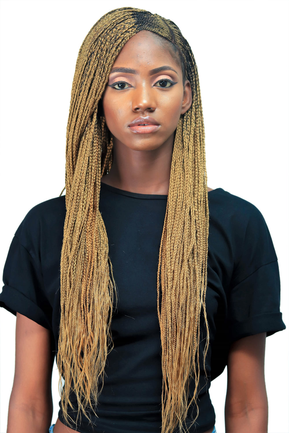 Cornrow Lemonade Side Part Braid Wig Color 27 22 Inches Wow Braids