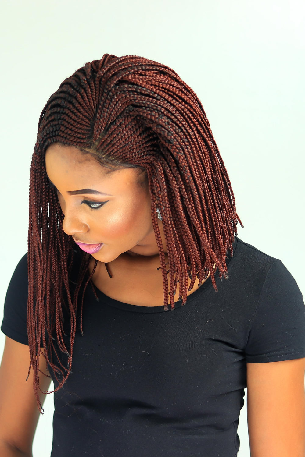 Cornrow V Side Part Braid Wig Color 35 12 Inches Wow Braids