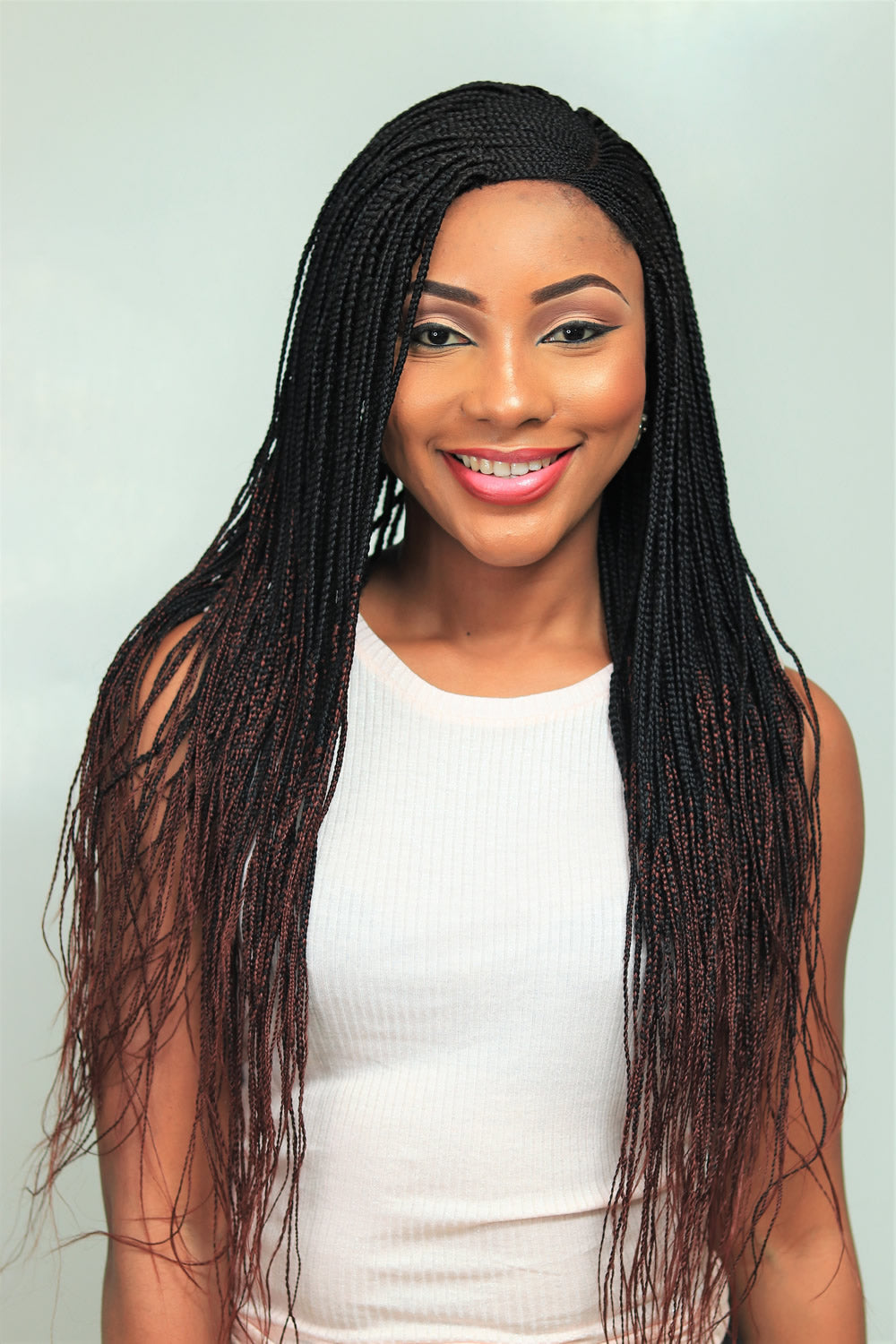 Cornrow Tiwa Side Part Braid Wig Ombre Color 1 35 22 Inches