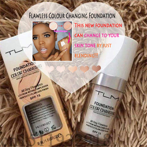 Image of Flawless kleur veranderende foundation