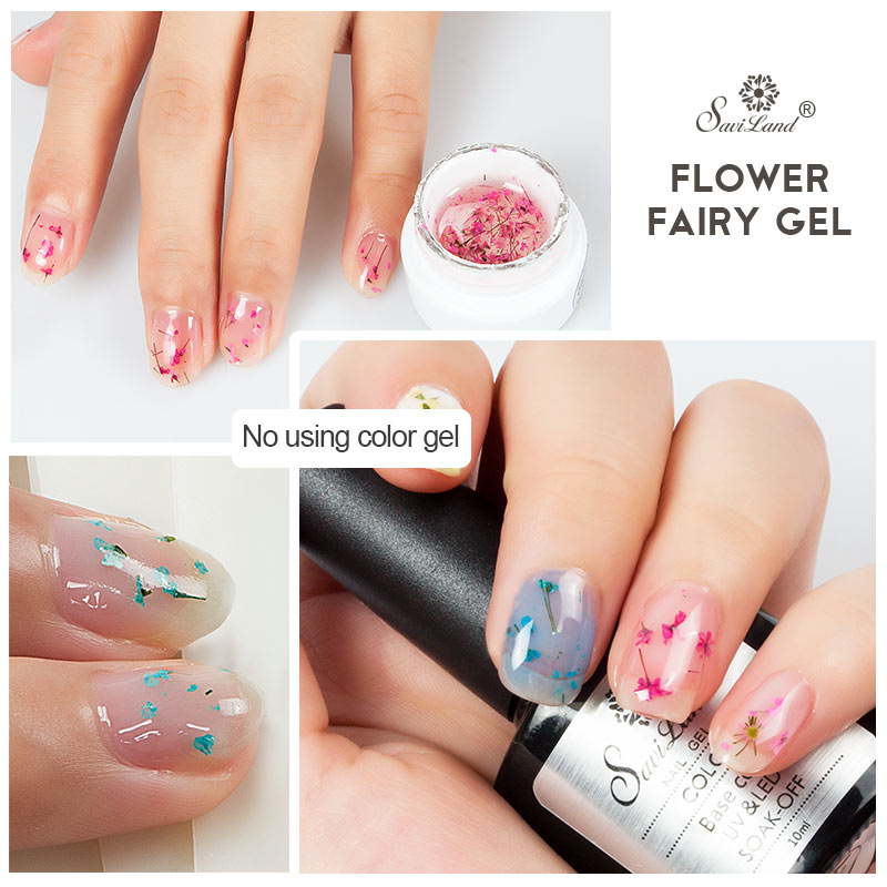 FairyFlora ™ gedroogde Flower Fairy Nail Gel