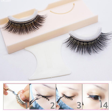 Image of Reusable Self Adhesive Fake Eyelashes