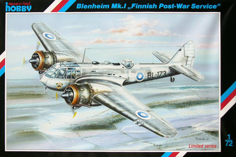 "Bristol Blenheim MK I ""Finnish Post-War Service"" pienoismalli"