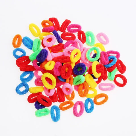 200 Pcs Colorful Child Kids Girl Women Hair Holders Cute Rubber bands