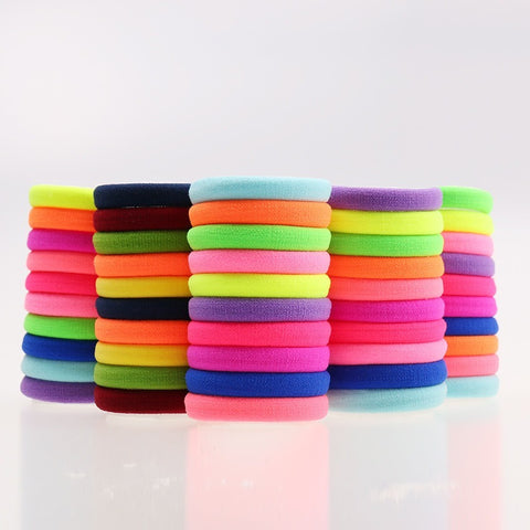 20 Pcs Candy Fluorescence Colored Hair Holders for Women