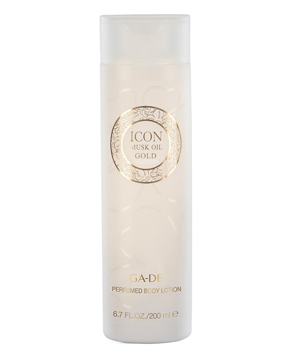 icon musk oil gold body lotion 200 ml