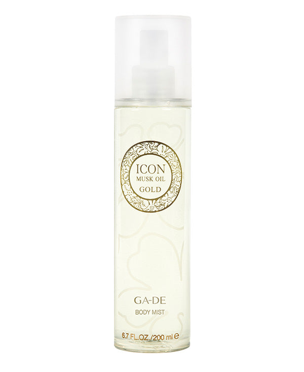 icon musk oil gold body mist 200 ml
