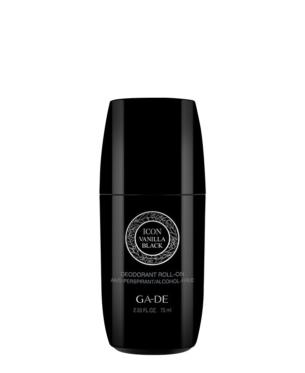 icon vanilla black roll-on deodorant 70 ml