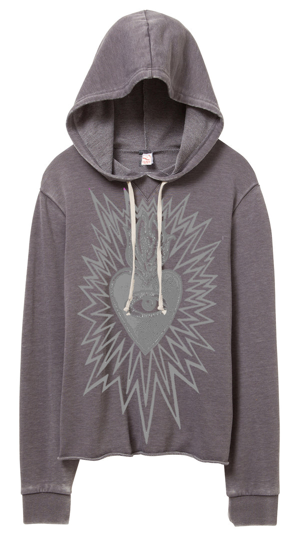 The Heart Knows. Silver Grey Hoodie