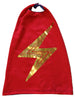 Fantastic Capes, with a shiny metallic foil  bolts available in red, royal and black.