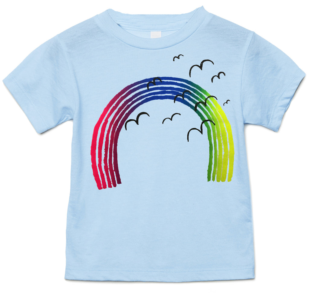Somewhere over the rainbow...blue organic tee.