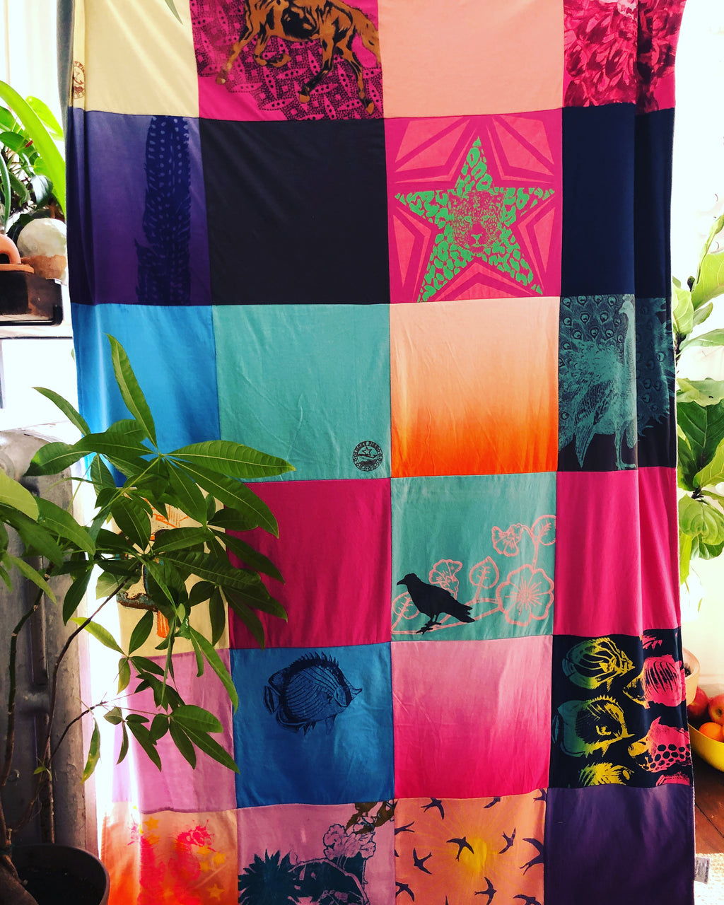 Upcycled Patchwork quilts.
