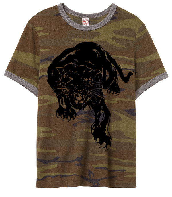 BLACK PANTHER ON CAMO TEE