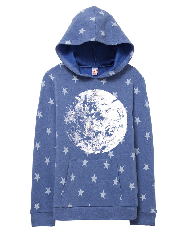 SILVER MOON AND STARS YOUTH HOODY