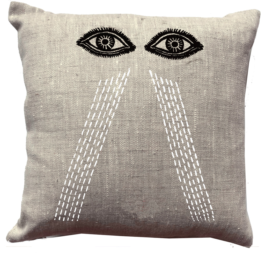 """I cried my eyes out""  Cushion."