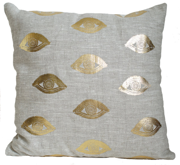 Eye See You Gold foil Cushion