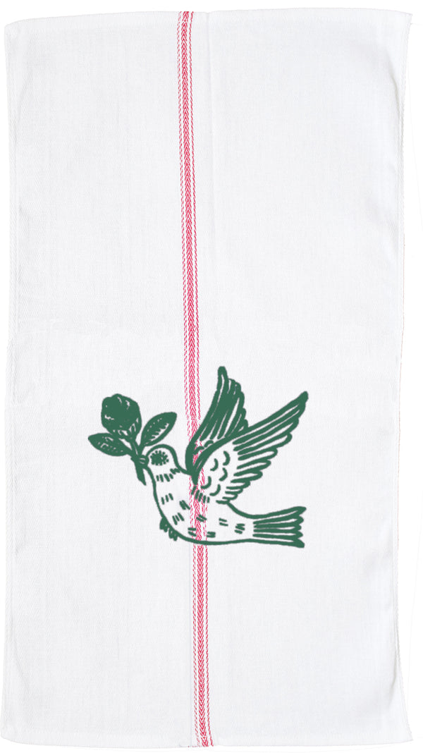 Jade Peace Bird Tea Towel.