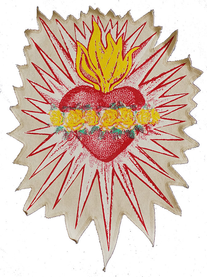 Sacred heart canvas patch.