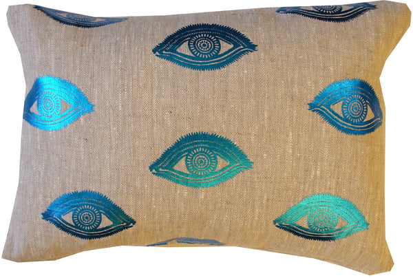 Eye See You linen cushion.