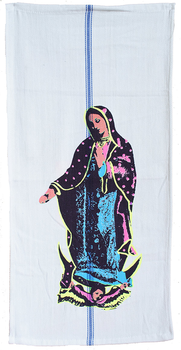 Virgin in all her colors Tea Towel