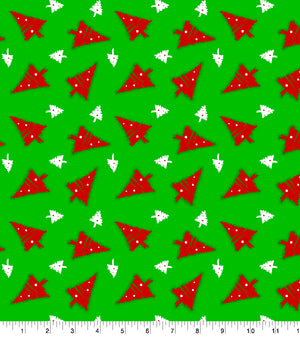 Baxter Mill Holiday Christmas Tree Green Fabric