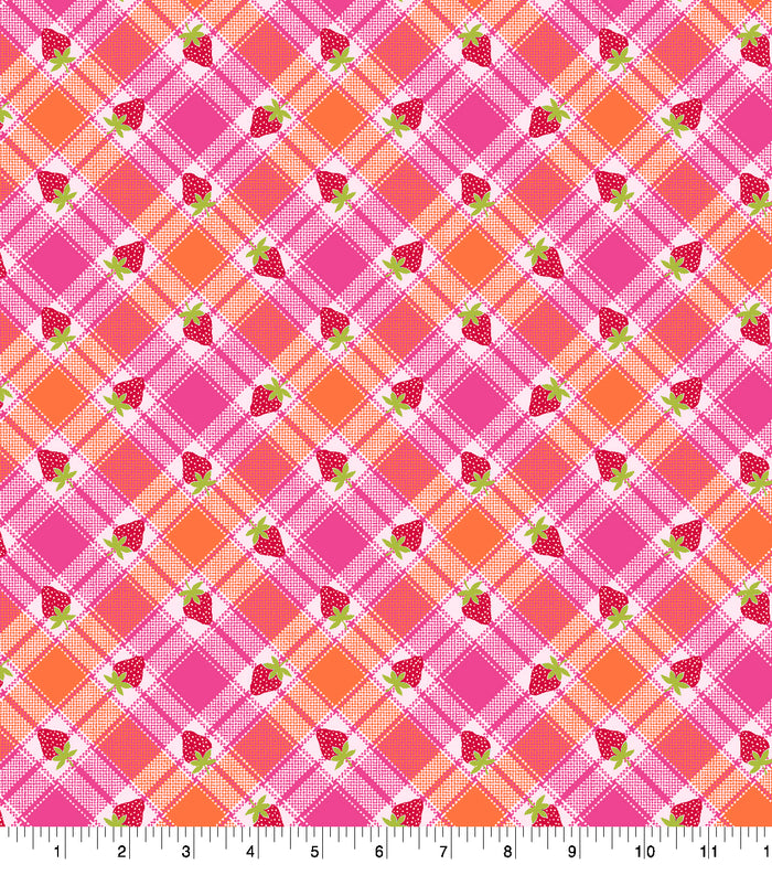 Daisy Kingdom - Annie Collection - Berry Plaid