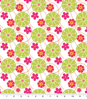 Daisy Kingdom -  Annie Collection -  Lime Floral