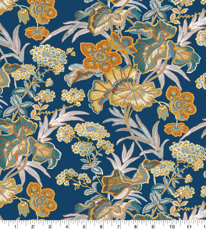 Baxter Mill Illusory Exotic Floral Blue