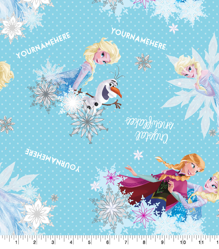 Frozen Crystal Snowflakes Personalized
