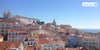 View of Lisbon city break banner