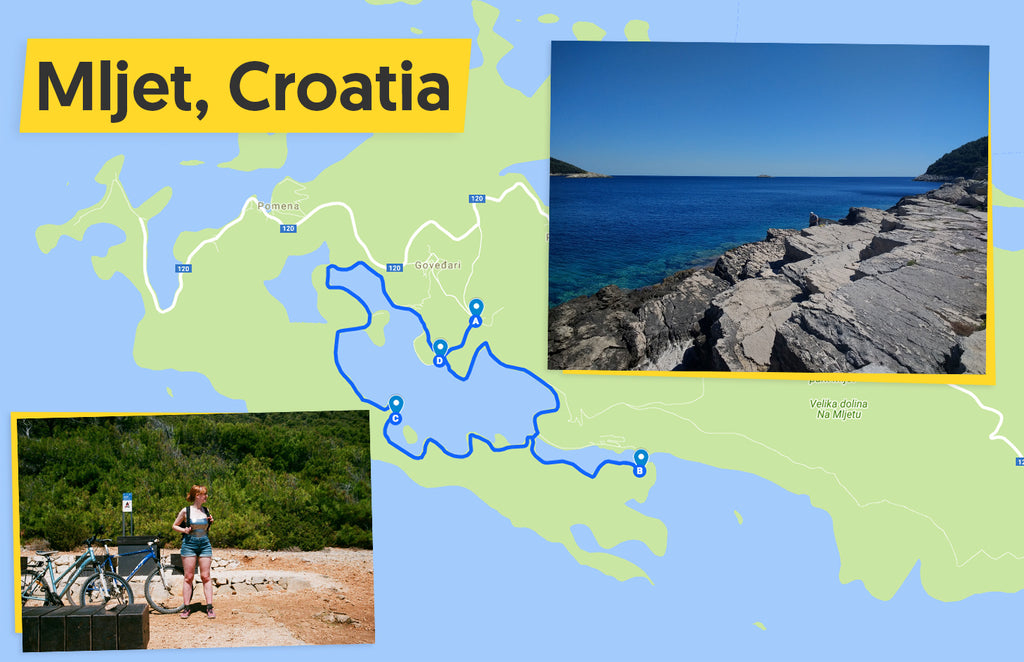 Ultimate Trip: Mljet National Park cycle route map