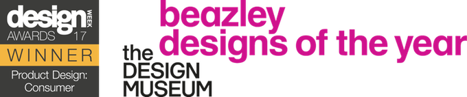 design week awards winner and Beazley designs of the year logos