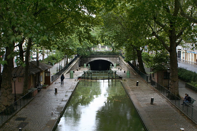 Paris Cycle Route Canal St Martin