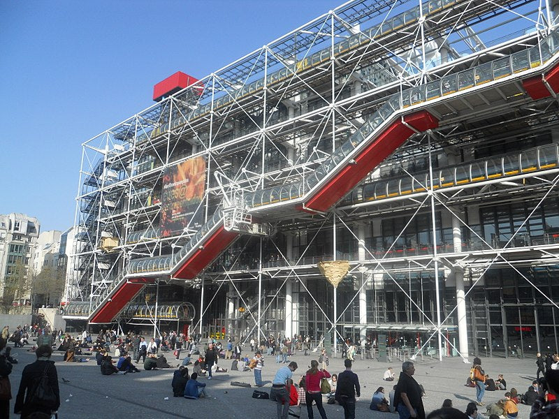 Paris Cycle Route Centre Pompidou