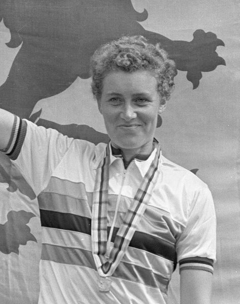 Beryl Burton with a medal