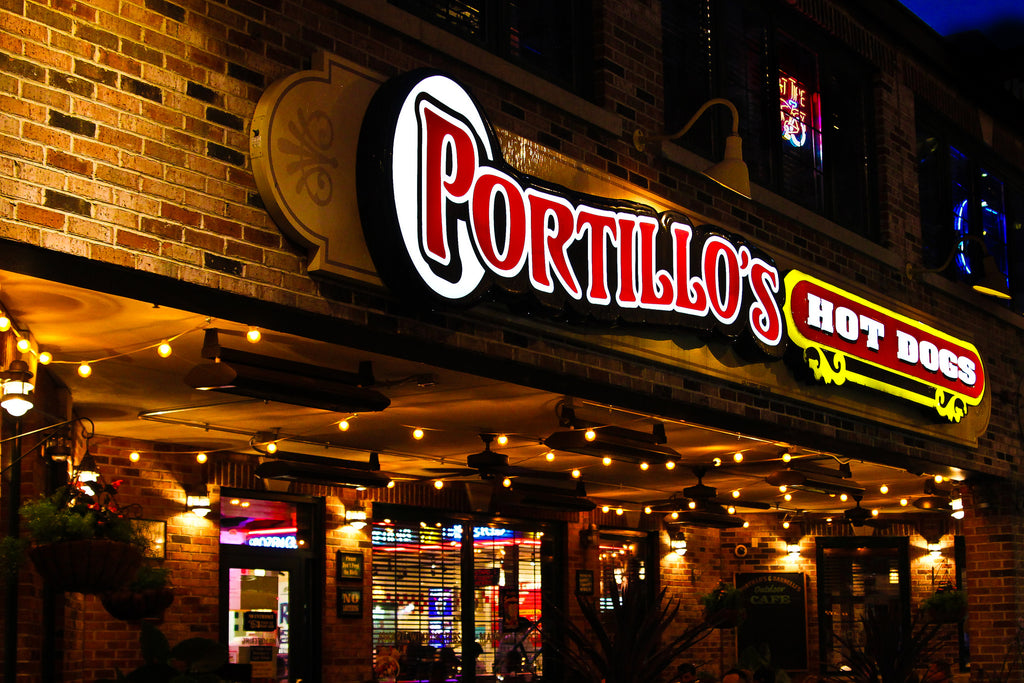 Chicago Portillos Hot Dog Bike Route