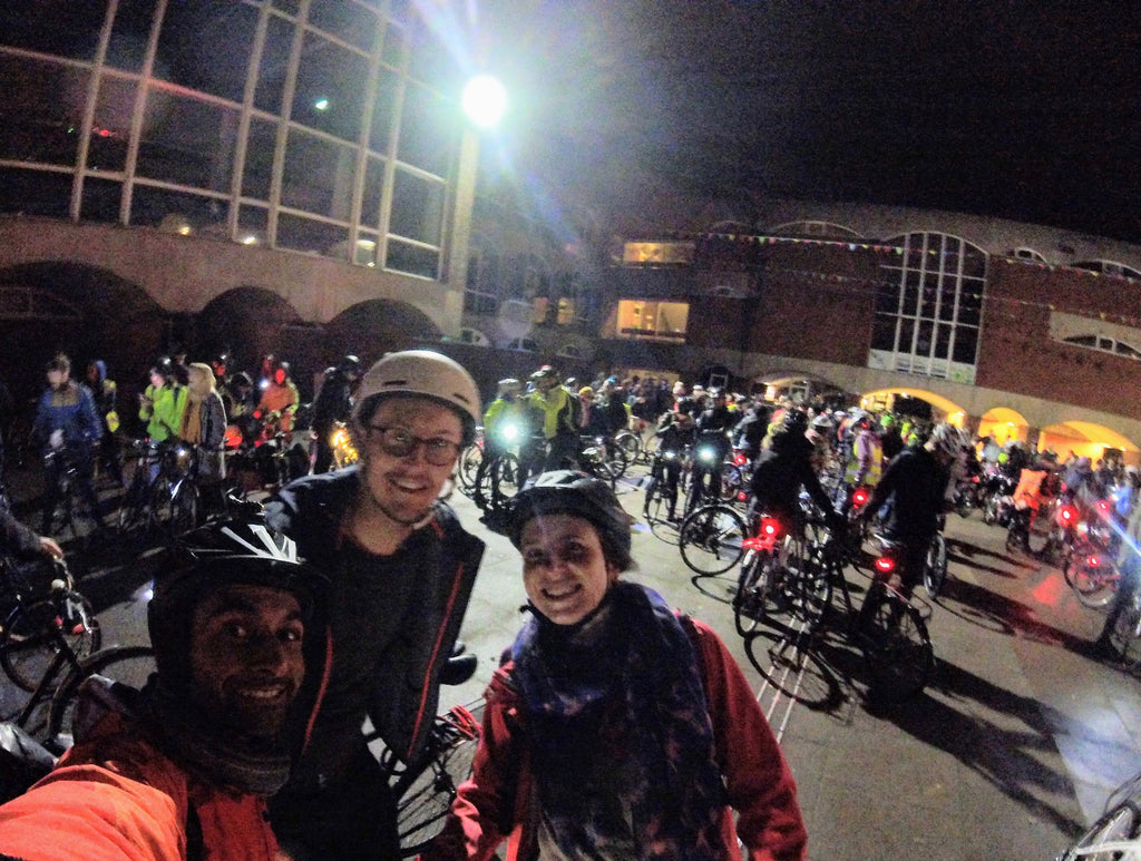 Cycling to Lewes for Bonfire Night brighton departure
