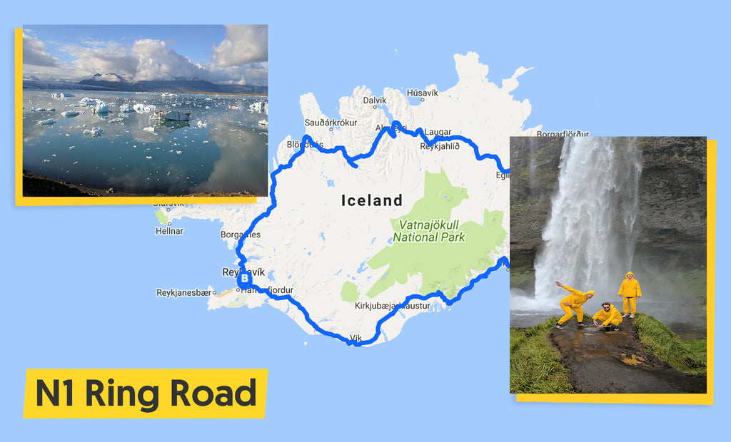 iceland ultimate trip cycling route map