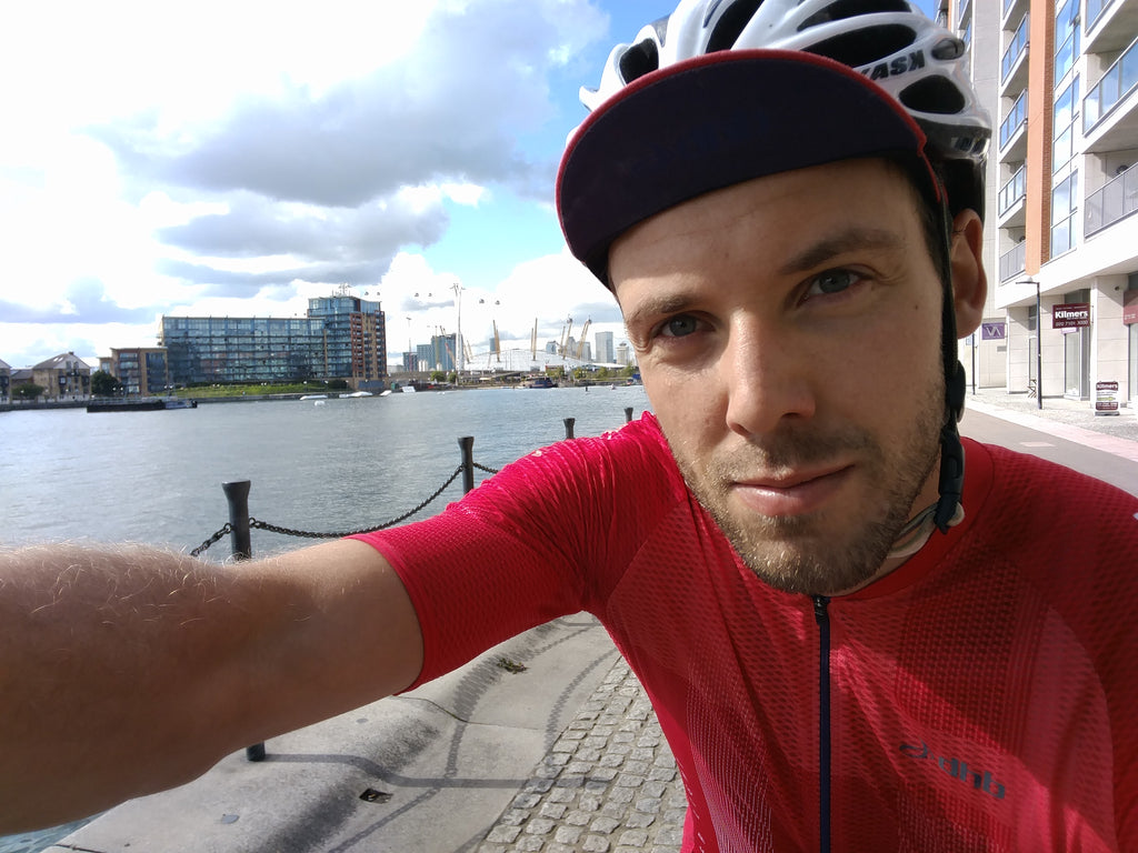 Tower Bridge to Canary Wharf marc selfie