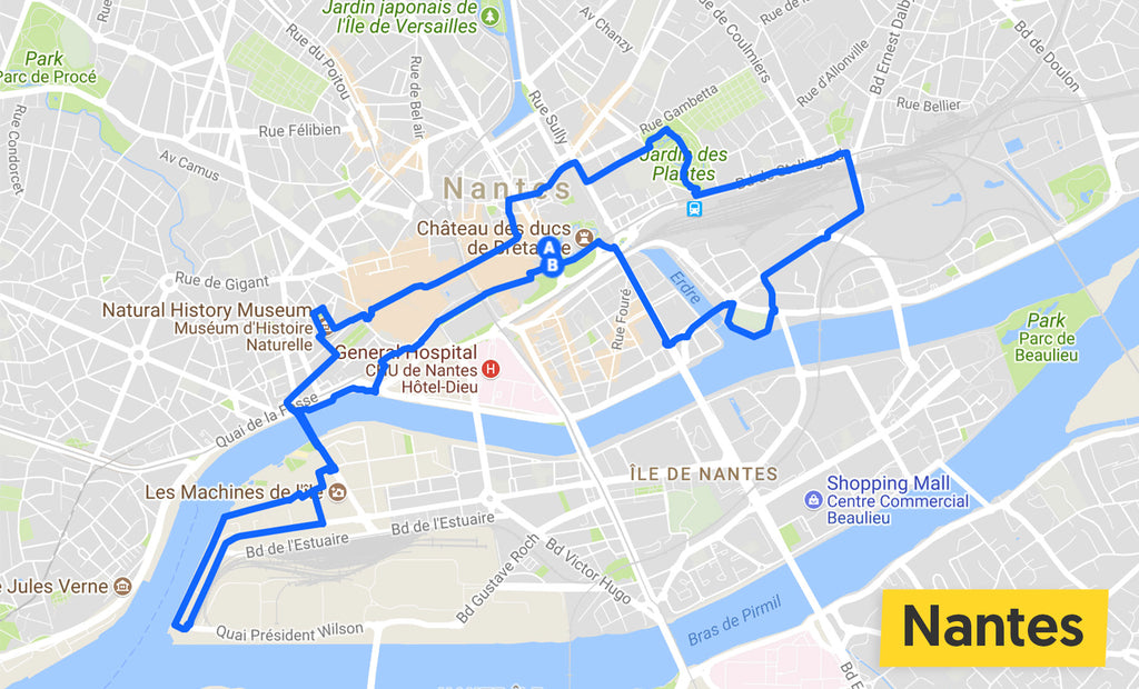 nantes cycle ride map