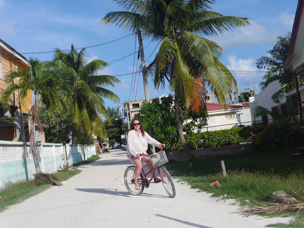 Belizean Bike Utopia cycling on the road