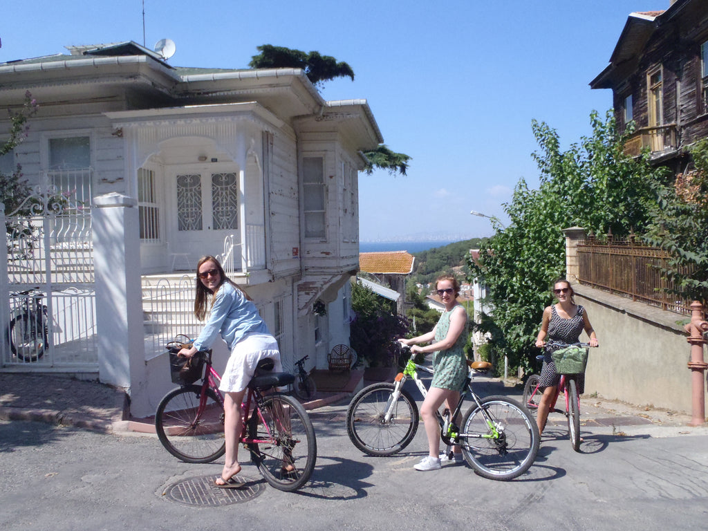 Cycling Istanbul's Princes Islands girls cycling
