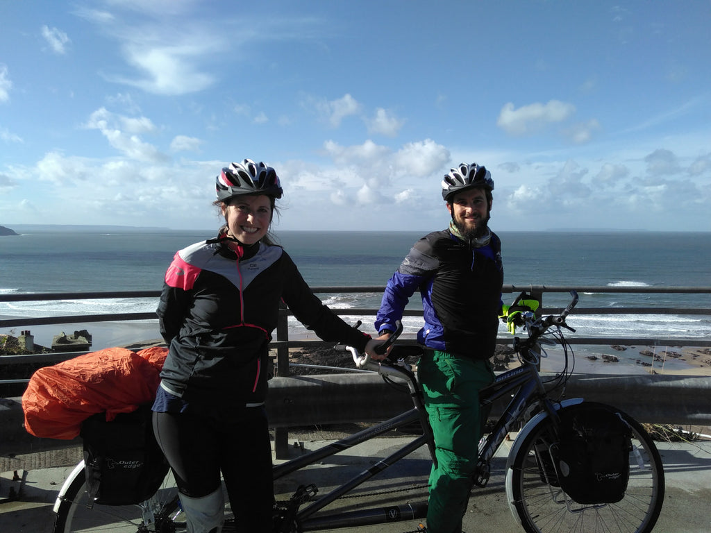 ultimate trip Ilfracombe to Plymouth robin and chloe facing the sea