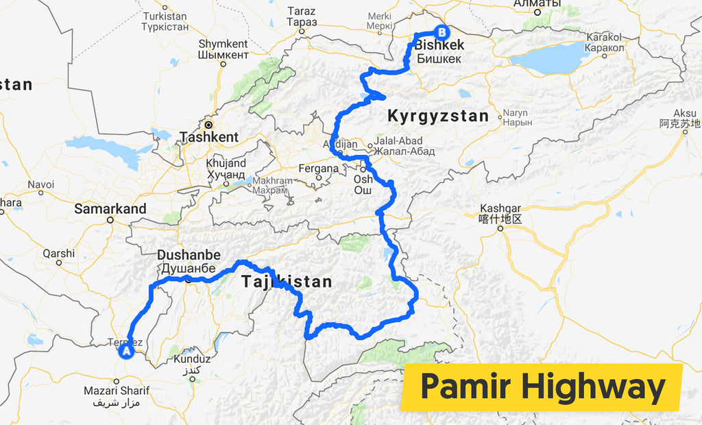 sam and jayne pamir highway map