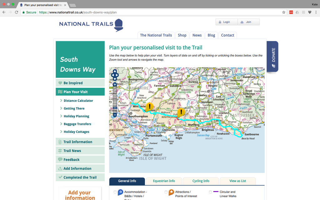national trails website image