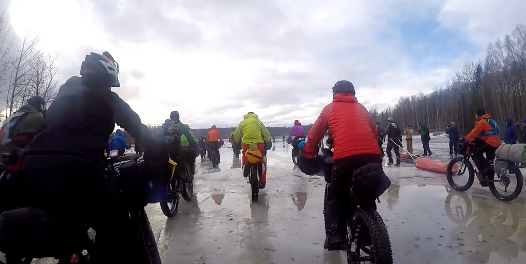 World's toughest bike race? Iditarod Trail Invitational start of the race