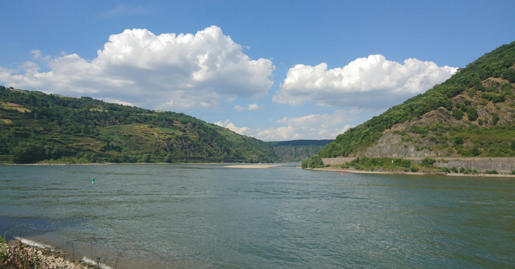 the rhine view of a valley