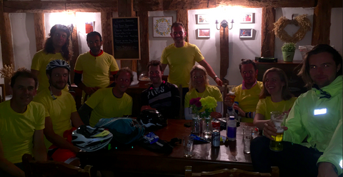 A quick rest in the Bell Inn - taken by a well lubricated photographer!