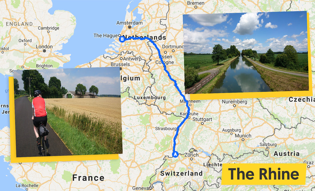 the rhine cycling route map